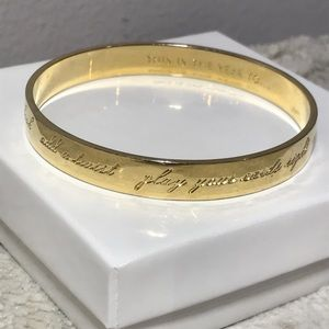❤️Kate Spade this is the year to Idiom Bangle Gold
